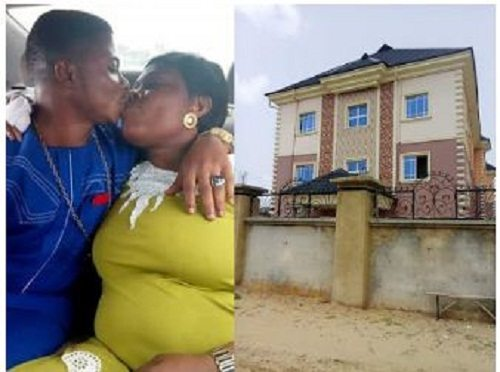 Photo of Pastor surprises his wife with a house for loving him while he was broke