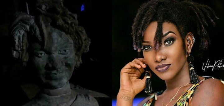 Photo of Horrible looking statue of late Ghanaian singer, Ebony Reigns surfaces (pic)