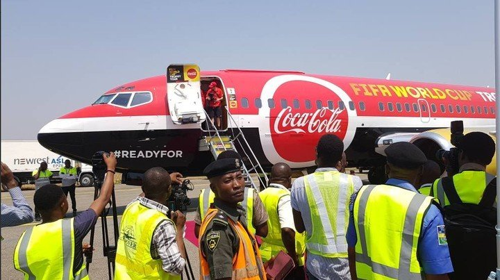 Photo of FIFA world cup trophy arrives Nigeria (pictures)