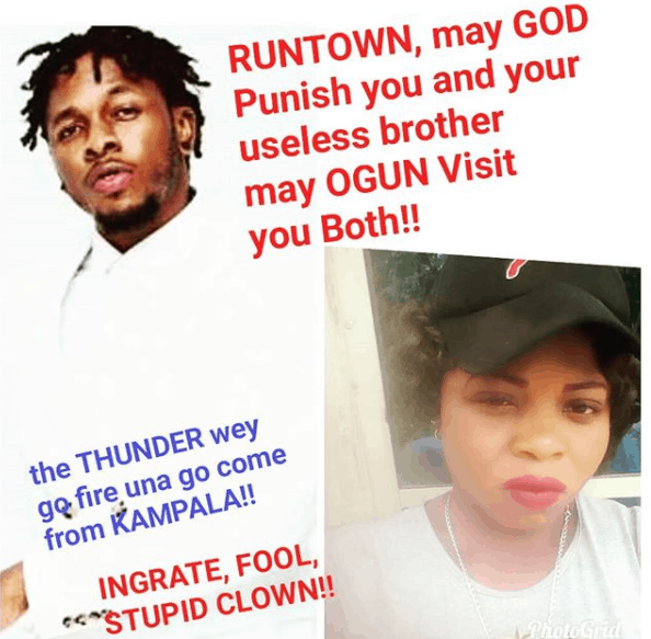 Photo of Thunder and lightning will fire and strike Runtown – Bosslady