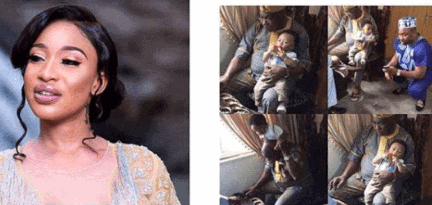 Photo of My son has no blood relationship with Obasanjo – Tonto Dikeh