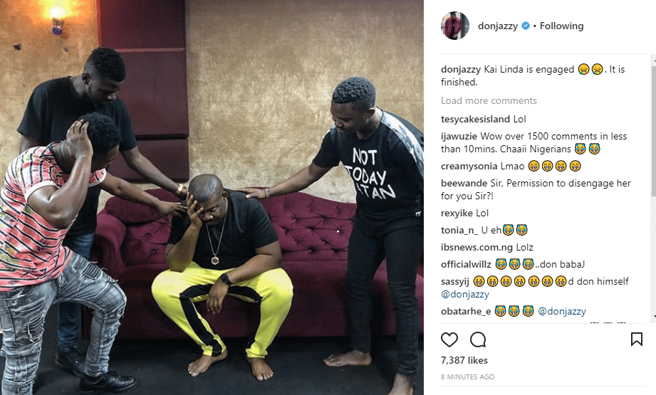 Linda Ikeji's engagement