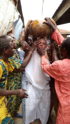 Photo of See how a white Brazilian man was initiated into the Sango Religion (pictures)