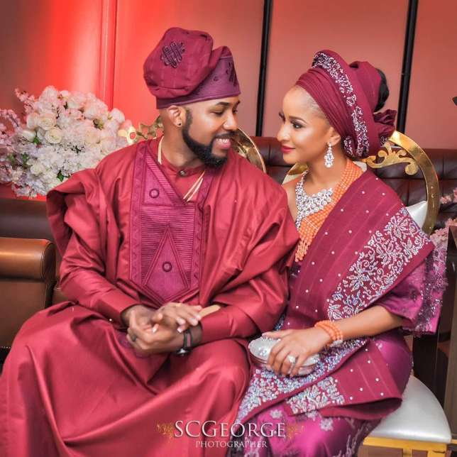 Photo of Banky W gets touching message from Adesua Etomi as he celebrates his 37th birthday