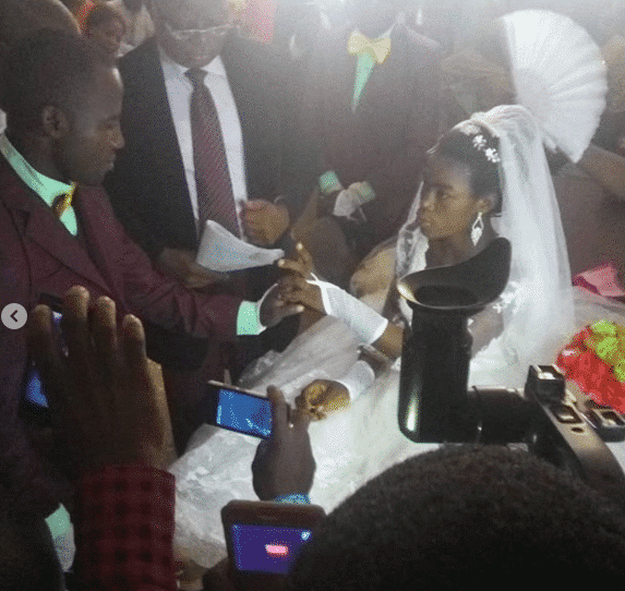 Photo of Wedding event holds at an hospital after bride was hit by a truck (photos)