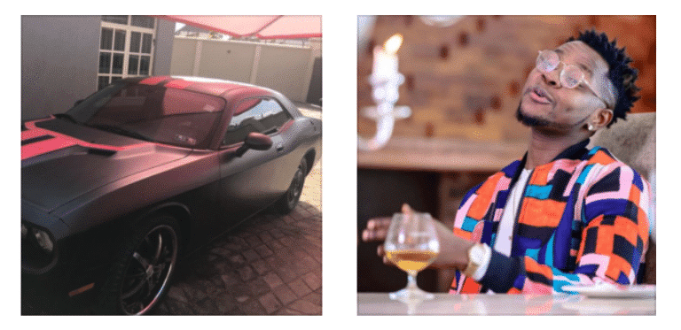 Photo of Kiss Daniel gives his brother his old car as birthday gift