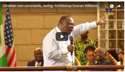 Photo of Christian men are unromantic and boring – Ghanaian Archbishop, Duncan Williams