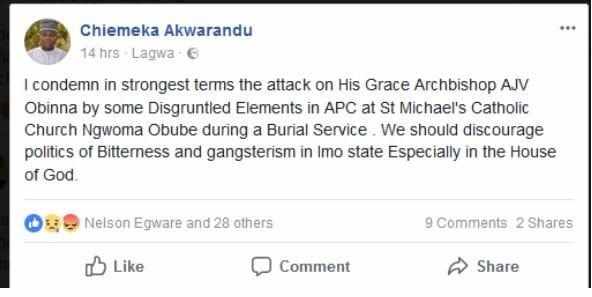 Archbishop  attacked