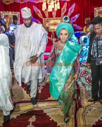 Photo of Colorful photos from Fatima Aliko Dangote's traditional wedding in Kano