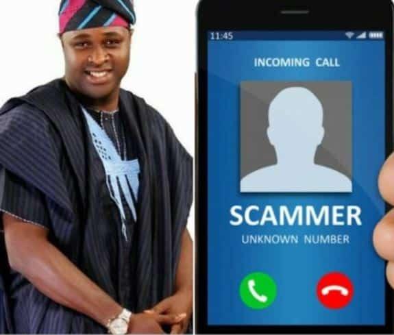 scammers use Actor Femi Adebayo