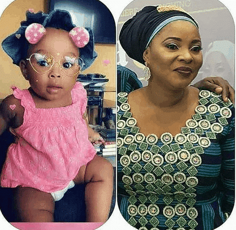 Photo of Moji Olaiya's friends abandon her family as daughter clocks one (photos)