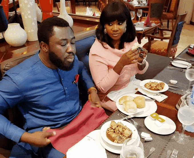 Photo of Mercy Johnson's husband makes new revelation about her