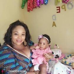 Moji Olaiya daughter clocks one