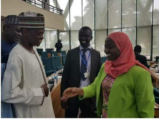 Photo of Nigeria's Youngest House of Assembly Speaker snubs lady's handshake