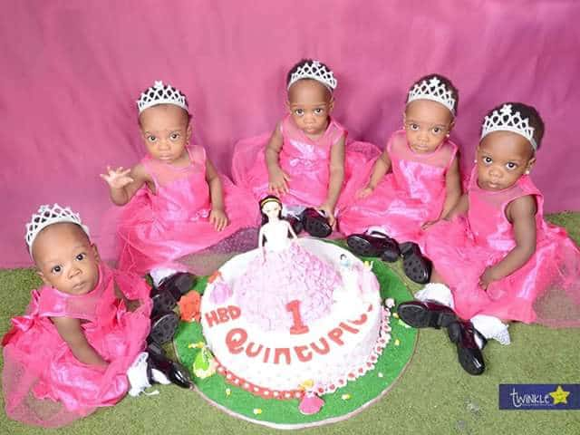 Photo of Checkout lovely photos from the 1st birthday of these adorable quintuplets