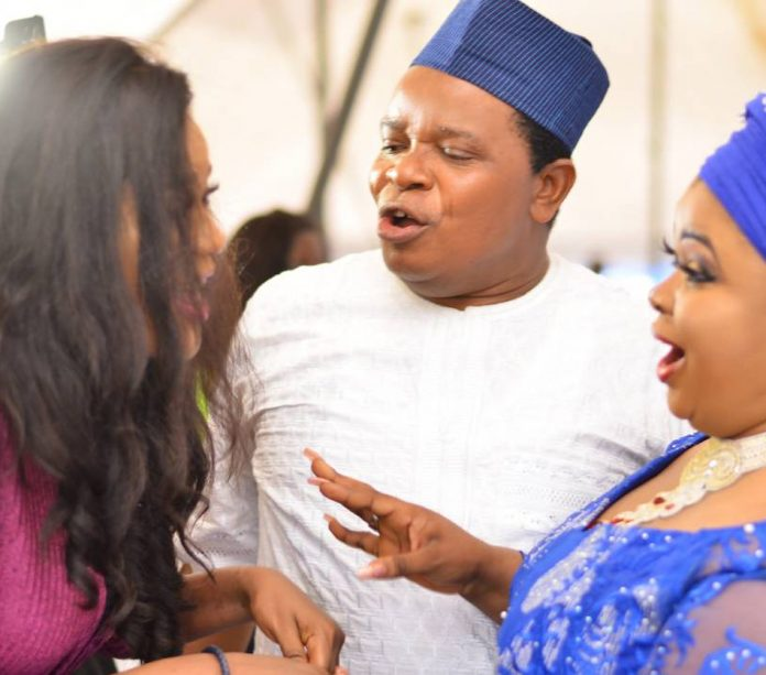 Photo of Ireti Osayemi and hubby reunite at Dayo Amusa's party (photos)