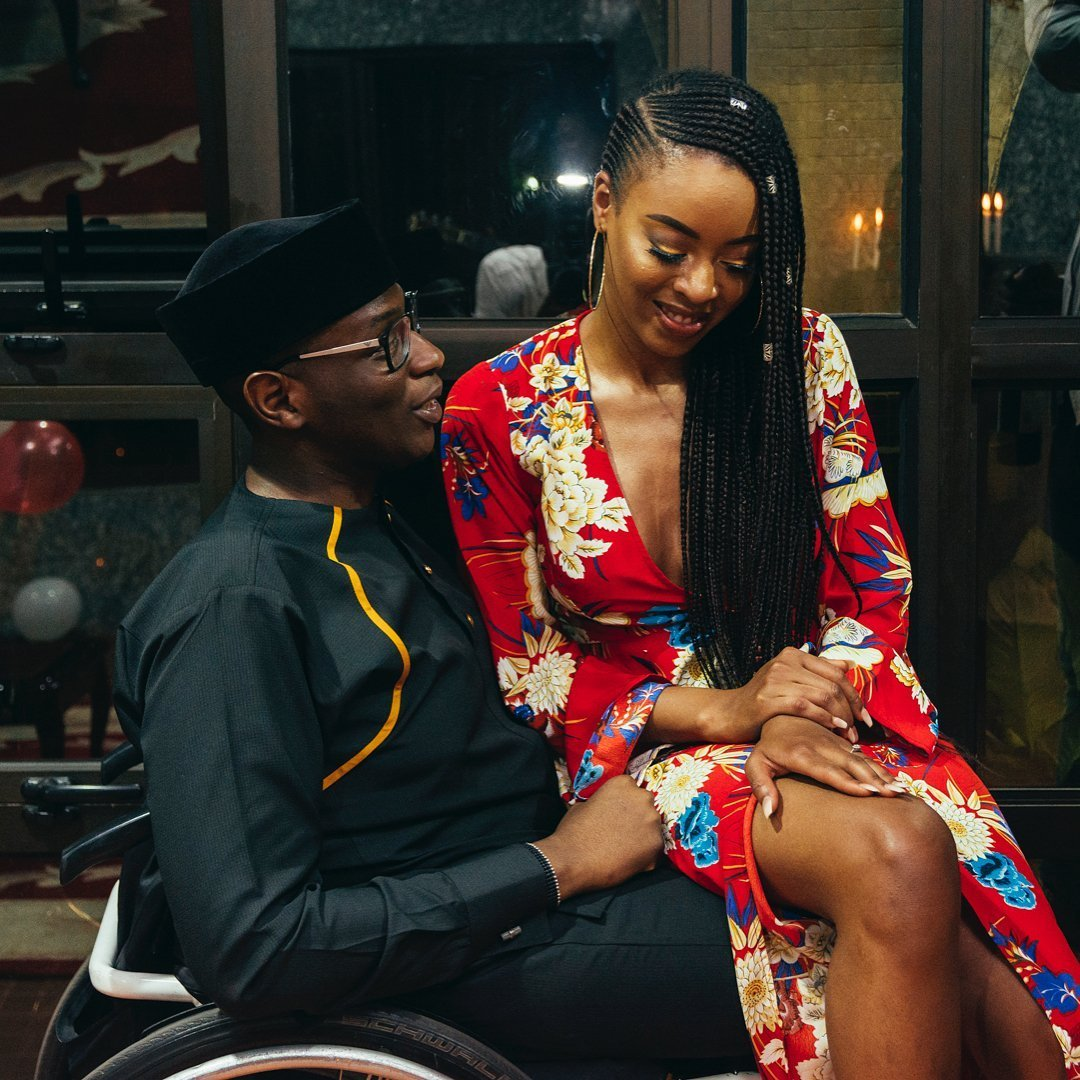 Photo of Gbenga Daniel's physically challenged son's fiancee, Natasha Morisson, reveals how she fell in love with him