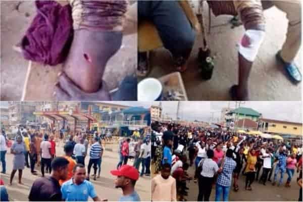 Photo of Disturbing photos from protest of Adekunle Ajasin University students following fee hike