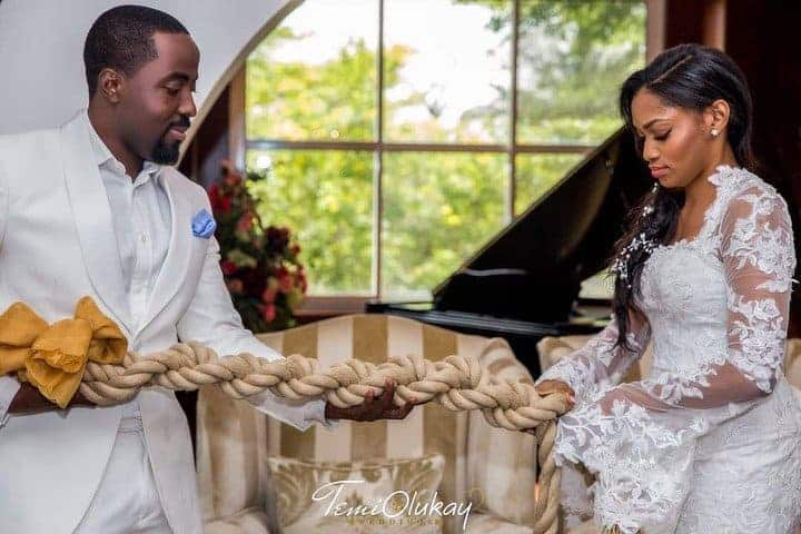 Photo of First photos from the white wedding of Xerona Duke and DJ Caise