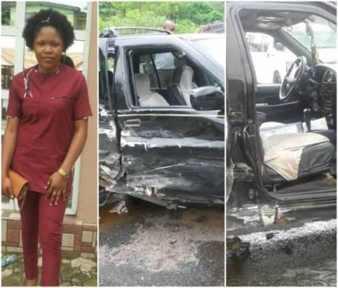 Photo of Lady recounts how she miraculously survived a fatal accident while traveling for Easter