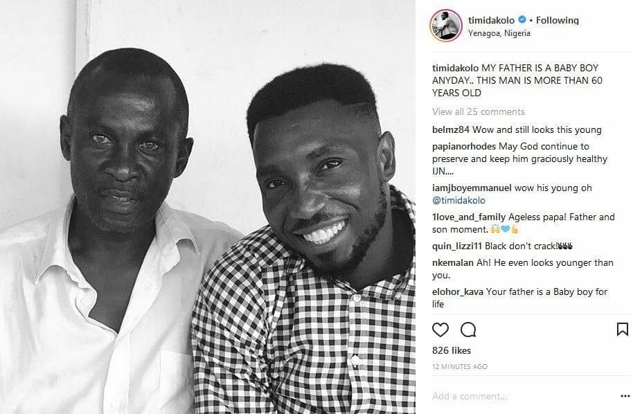 Timi Dakolo celebrates dad