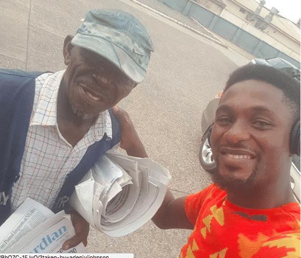 Photo of Adeniyi Johnson shares emotional story of how he took a vendor off the street