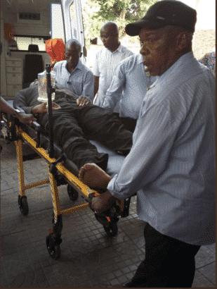 Dino Melaye on stretcher