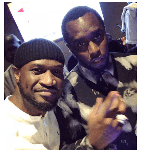 Photo of Peter Okoye chills with Diddy and Cassie in Abu Dhabi