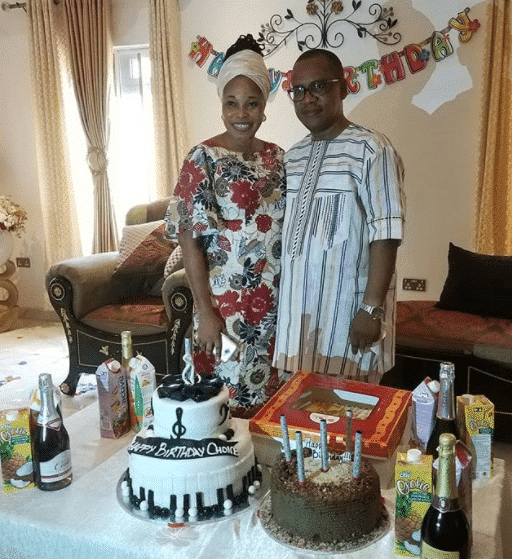 Tope Alabi throws surprise birthday party for her husband