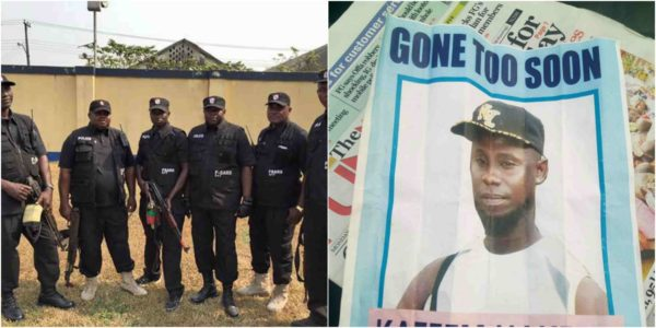 Photo of Burial poster of man killed by SARS operatives in Ogun state