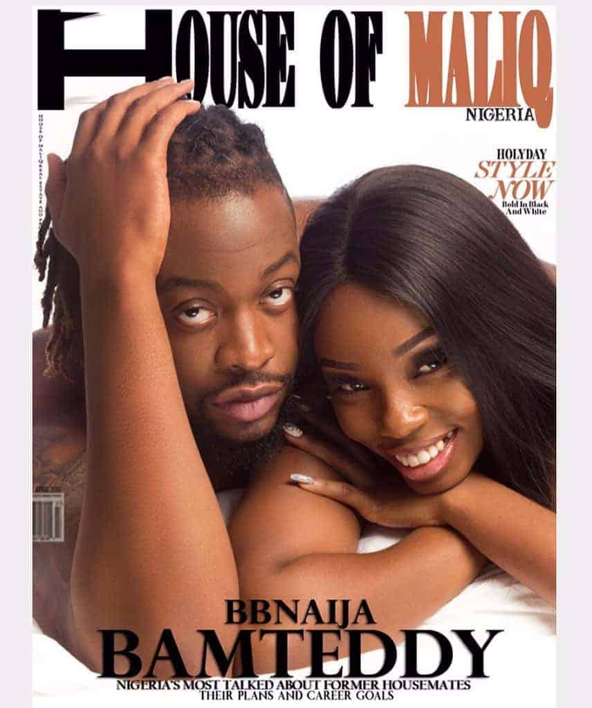 BBNaija: Teddy A and Bambam cover House of Maliq magazine