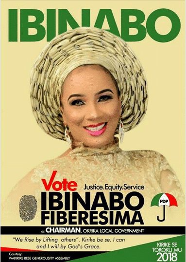 Photo of Actress Ibinabo Fiberesima ventures into politics, releases campaign poster