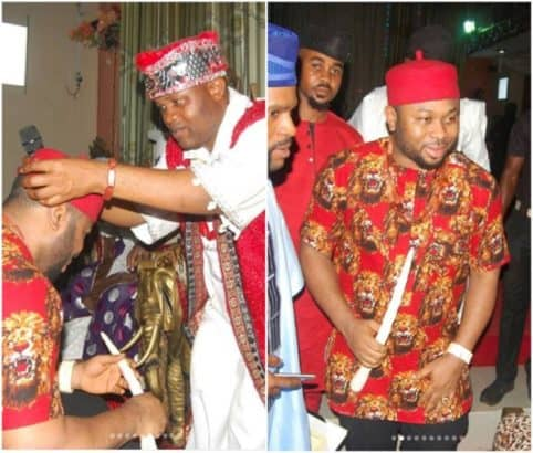 Photo of Tonto Dikeh's ex-husband, Olakunle Churchill bags chieftaincy title in Enugu