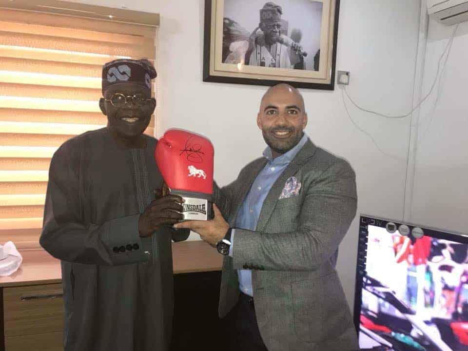Anthony Joshua gives Tinubu hand-signed boxing glove
