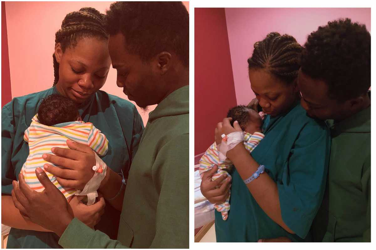 Photo of Reekado Banks' brother and manager welcomes first child with his wife