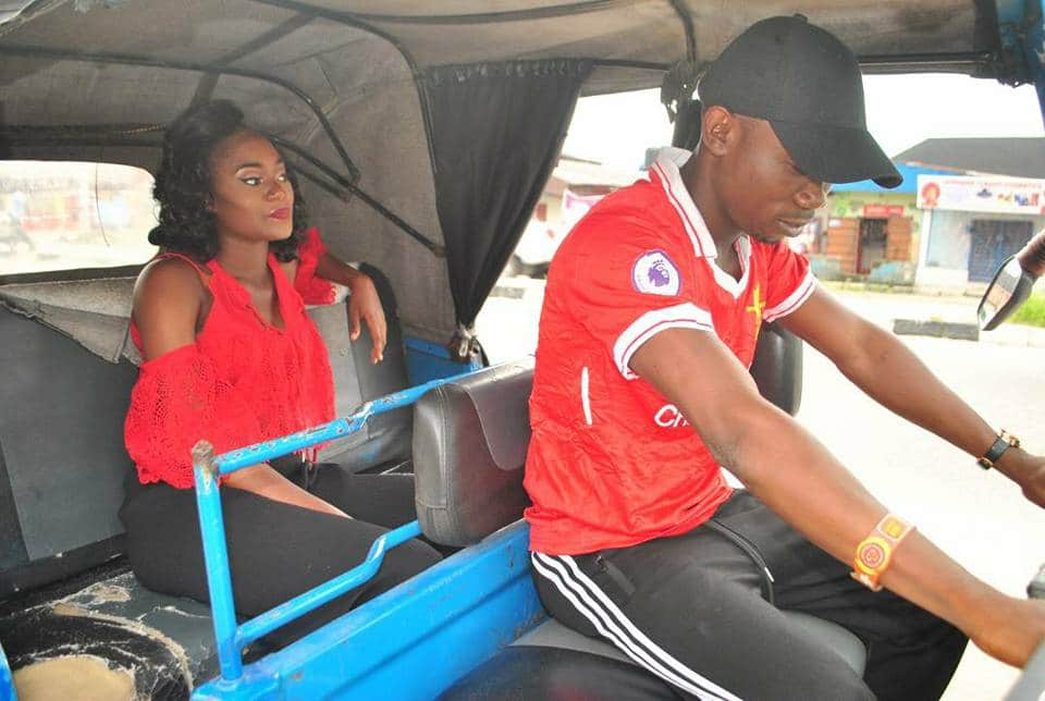 Keke driver shares pre-wedding photos with fiancee, reveals how they met