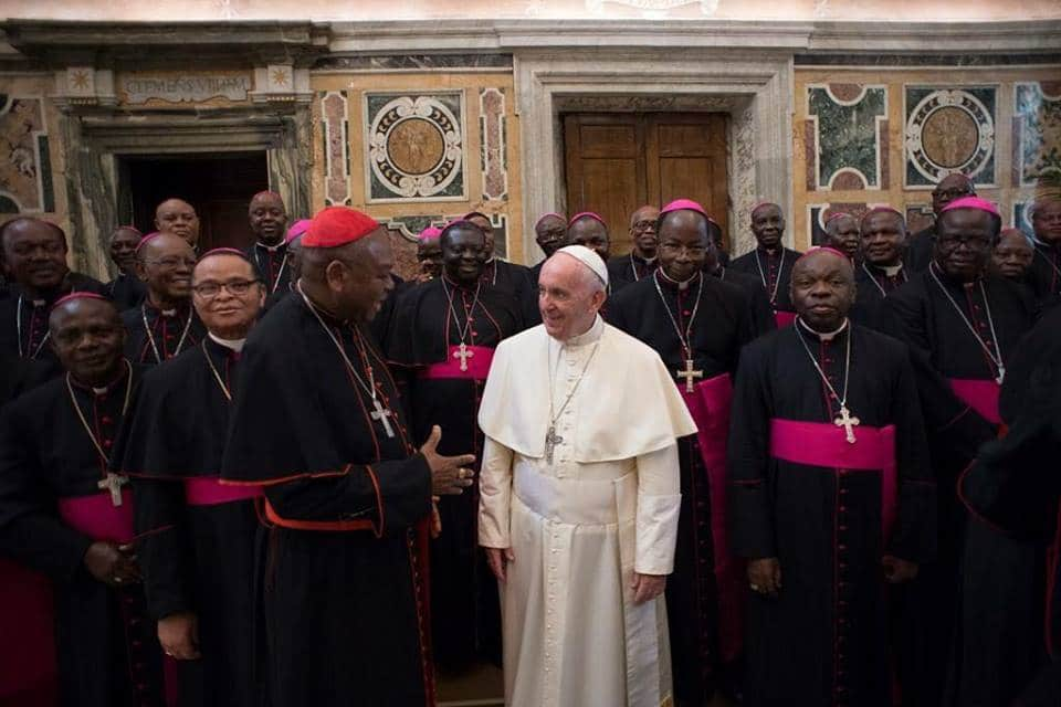 Photo of Nigerian Catholic Bishops meet with Pope Francis at the Vatican