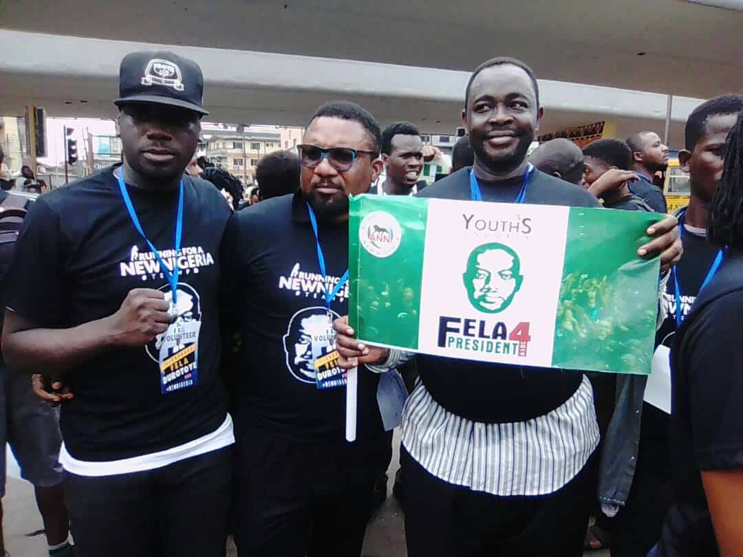 Photo of Youths troop to the streets to endorse Fela Durotoye for president 2019
