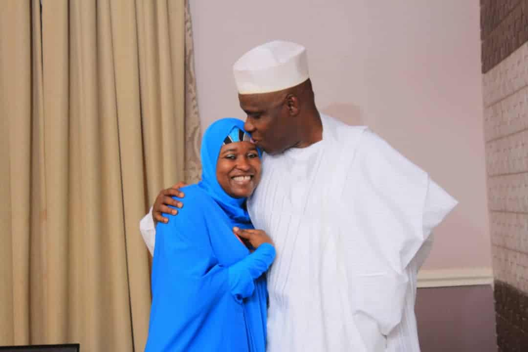 Photo of BBOG convener, Aisha Yesufu loved up with hubby as they celebrate 20th wedding anniversary