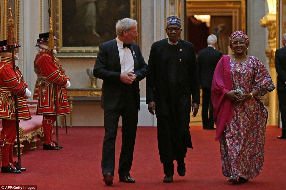President Buhari and Aisha hosted to a dinner by Queen Elizabeth II