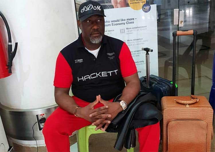 Photo of Senator Dino Melaye arrested at the airport on his way to Morocco
