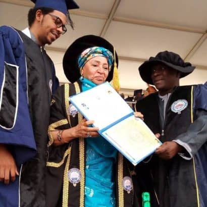 Maryam Abacha present at her youngest son's graduation ceremony