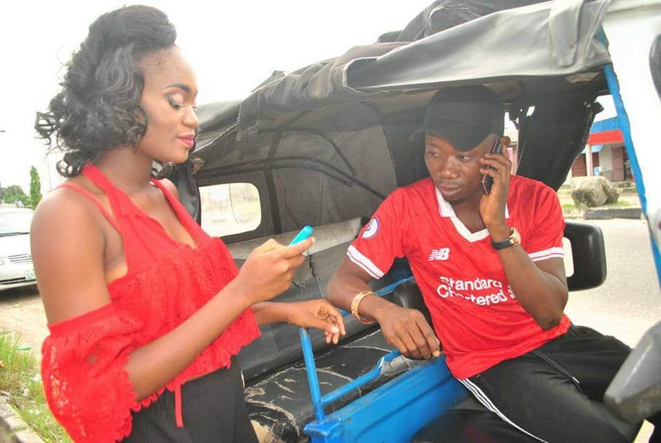 Keke driver shares pre-wedding phots with fiancee, reveals how they met