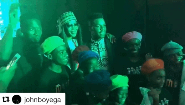 Photo of John Boyega pictured with Ikorodu talented dancing kids, Dream Catchers