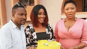 """Photo of """"We are a happy family"""" Segun Ogungbe hangs out with his two wives (photos)"""
