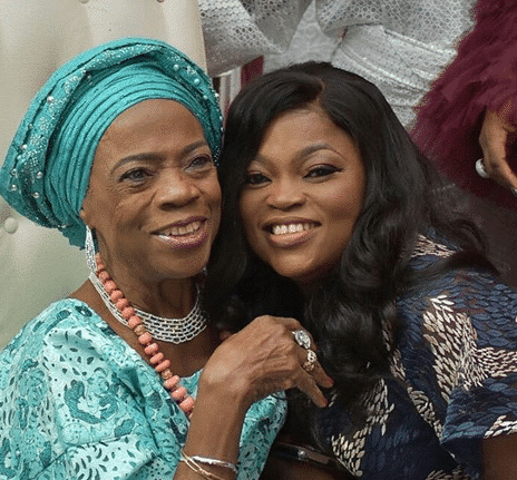 Photo of Funke Akindele, RMD support AIT's General Manager, Namure in marking mum's 80th birthday (photos)