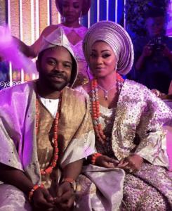gabriel Afolayan and wife smoke shisha