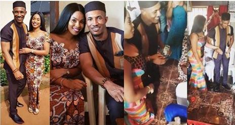 Photo of Actor Gideon Okeke traditionally weds his fiancee (photos)
