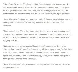 Sexual letter to my husband