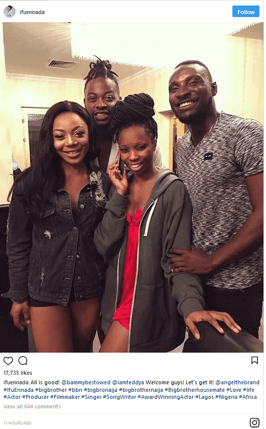 Photo of 2018 Big Brother Naija Evicted housemates hangout